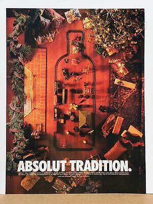 Absolut Tradition Christmas Train Set Gifts 1995 Photo Print AD VODKA Large