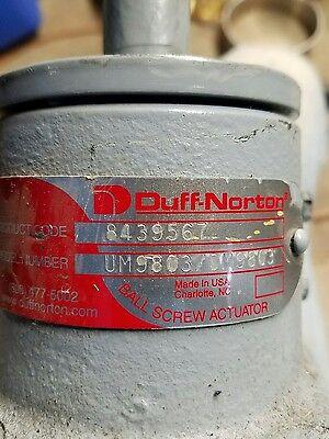 Duff Norton Ball Screw Actuator 8439567 Um9803 Dm9803