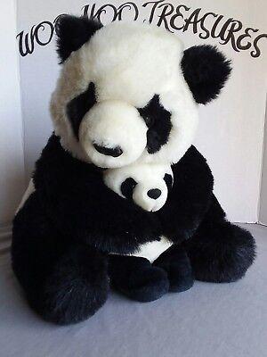 "VTG Ganz The Heritage Collection 17"" Panda Bear & 7"" Baby Plush"