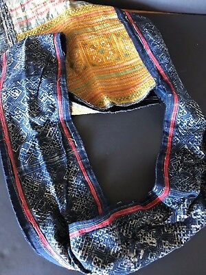 Old Laos Handmade Tribal Shoulder Bag  …beautiful collection / accent piece (a)
