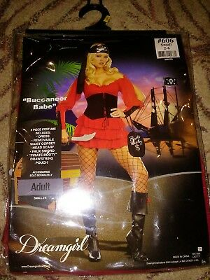 Dream Girl Costume (Dream girl Buccaneer Babe Costume - Halloween size small 2-6)