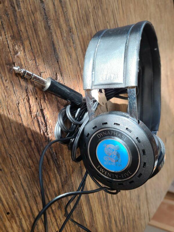 Vintage Stanton Dynaphase Twenty-Five Stereo Headphones NICE COND