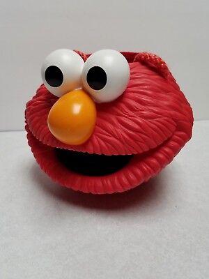Sesame Street Bucket Pail (Sesame Street Elmo hard plastic Halloween Candy Bucket Pail Applaus 1997)