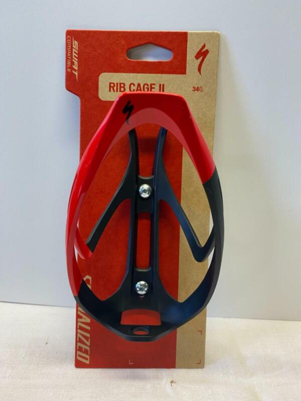 new Specialized RIB CAGE II bicycle WATER BOTTLE CAGE black/red