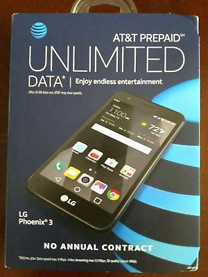 AT&T Prepaid - LG Phoenix 3 4G LTE with 16GB Memory Prepaid Cell Phone - Black