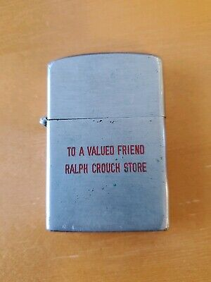 Vintage 1960's Wind DOW Master Japan Advertising Lighter Ralph Crouch Store