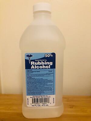 NEW High Quality 50% Isopropyl  Rubbing Alcohol 16oz bottle