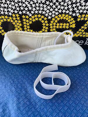 Ballet  Slippers Teknik New Girls Size 2 M ~ SALE (Girls White Ballet Slippers)