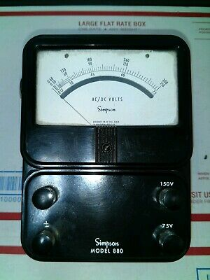 Vtg Simpson Acdc Bench Power Meter Voltage Tester Model 880 Cleaned Tested