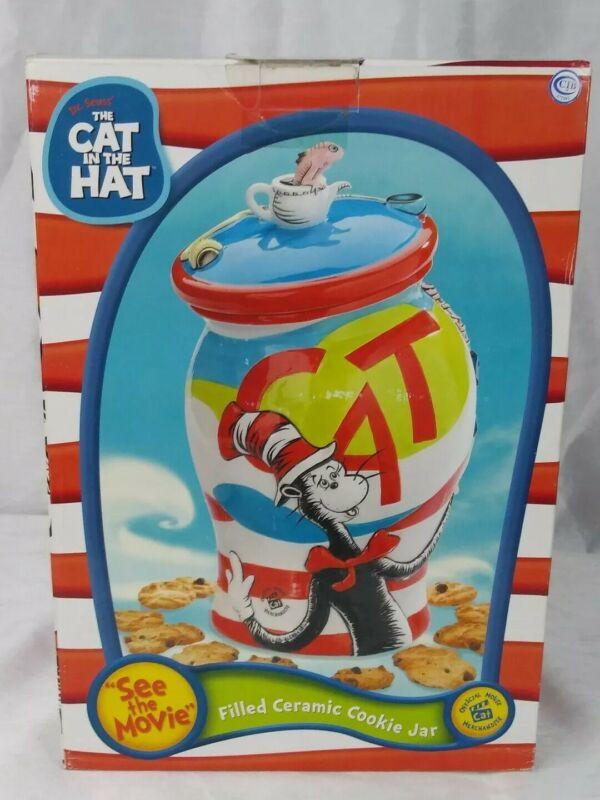 Dr. Seuss Cat In The Hat 2003 Cookie Jar Official Movie Merchandise Original Box