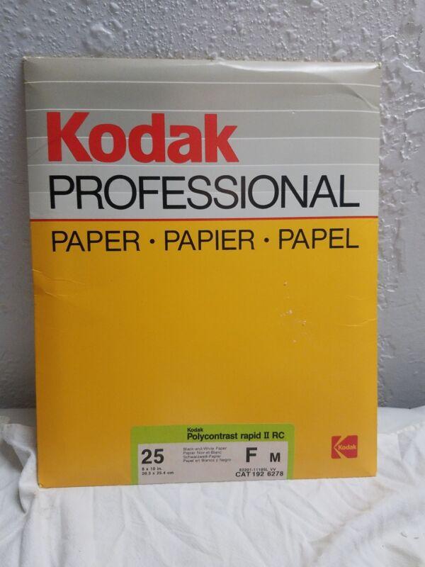 kodak professional paper polycontrast rapid II rc f m 25 pc