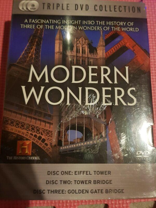 MODERN+WONDERS+DVD+Eiffel+Tower%2C+Tower+Bridge%2C+Golden+Gate