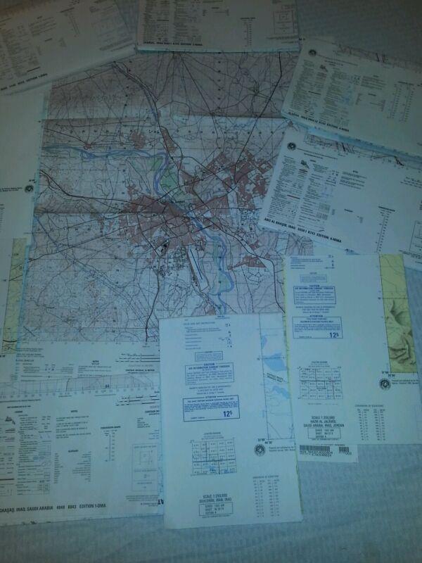 Gulf War Map Set set of ten maps