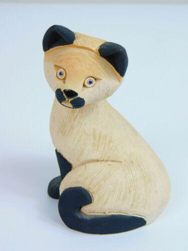 Artesania Rinconada Siamese Cat #90 Retired Animal Uruguay Figurine