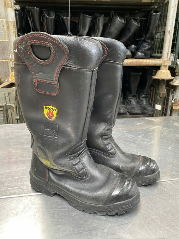 YDS Ex Fire & Rescue Fire Firefighter Safety Leather Rigger Boots - Various S...