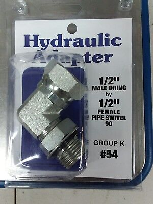 Hydraulic Adapter 12 Male O-ring X 12 Female Pipe Swivel 90 Degree