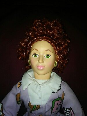 Miss Frizzle (Miss Frizzle Doll Magic School Bus vintage collectible Storybook)