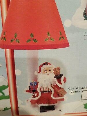 "Christmas electric night santa  lamp gottschalks        9 1/2"" tall"