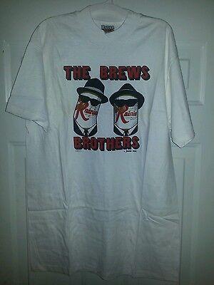 Original Rainier Beer Brews Brothers Blues Brothers tribute T-shirt L