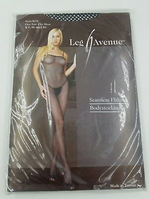 Body Stocking Avenue (Leg Avenue SEXY fishnet Body Stocking black Lingerie ONE SIZE FITS MOST)
