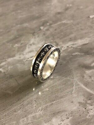 Chrome Hearts Amazing Mini-Plus Ring 925 Sterling Silver US Size 9