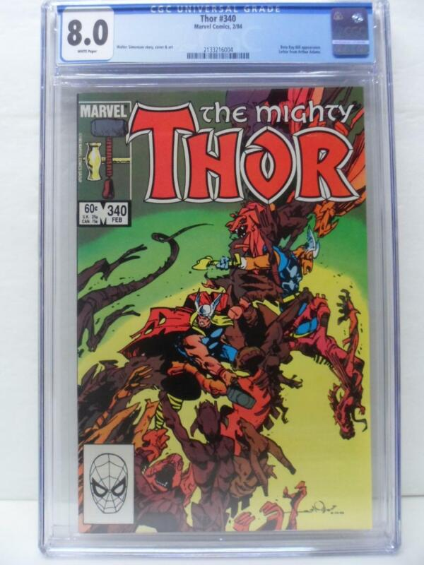 Thor 340 - Beta Ray Bill Appearance - 1984 - CGC Graded 8.0
