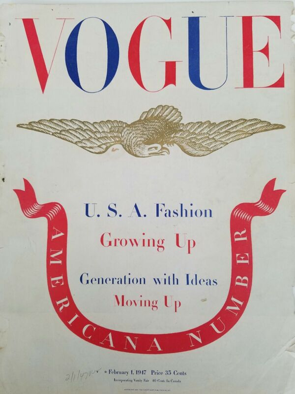 1947 Vogue magazine front cover only Eagle Americana number
