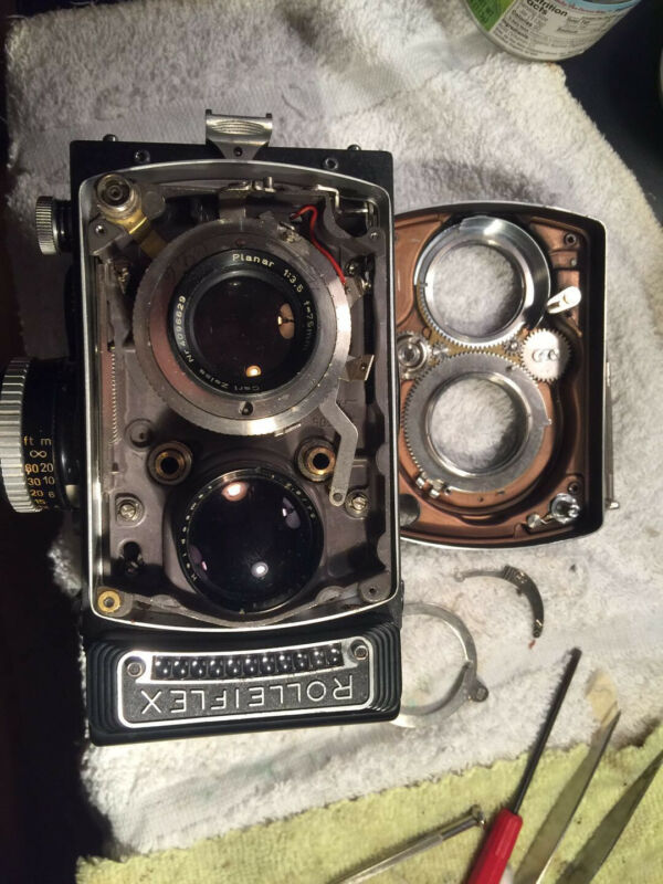 CLA Service for Rolleiflex 3.5 F Type 3 TLR Film Camera