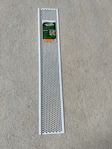 "FROST KING - SNAP ON VINYL GUTTER SCREEN 6 1/4""x3"" - WHITE"
