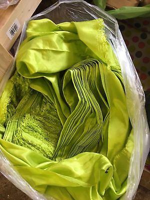 - fresh green Satin fabric costume curtain lining wedding decoration crepe fabric
