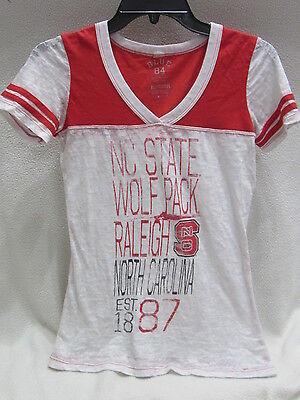 North Carolina State Wolfpack Burnout T Shirt Womens M   Euc