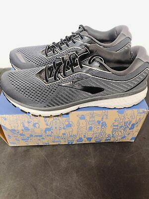 USED Men's Brooks Ghost 12 Size 10.5 Neutral Road Running Shoes Grey Black