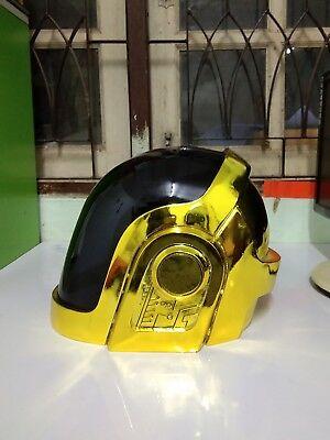 DAFT PUNK DJ Party REPLICA HELMET Fiber Golden Mask Guy Manuel de Homem-Christo  for sale  Shipping to United States