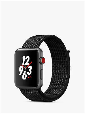 Apple Watch Nike+ S3 GPS / Cell 42mm Space Grey- Nike Loop A1891 *RES ML4304