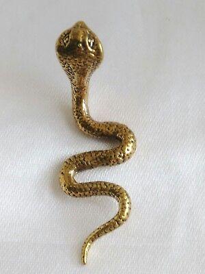 Statue Brass Snake King Cobra servant Shiva Ganesha Protect life Thai Amulet