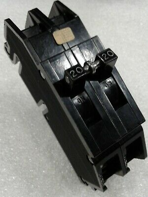 Qc20 Zinsco Gte Sylvania Type Q Qc Plug-in Circuit Breaker 2 Pole 20 Amp 120v