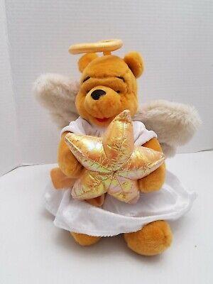 Disney Store Winnie the Pooh Angel Plush 12 inch Christmas tree topper