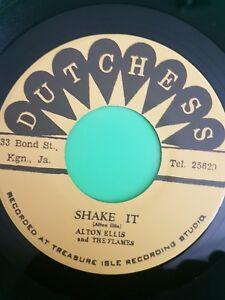 DUTCHESS RECORDS SHAKE IT / 123 KICK   ALTON ELLIS / TOMMY MCCOOK .TREASURE ISLE