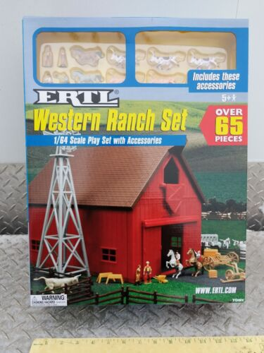 1/64 Ertl Farm Country Toy Building western ranch barn playSet s scale Sealed!