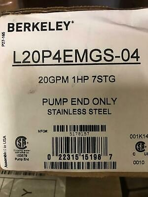 Berkeley L20p4emgs-04 4 Submersible Well Pump End Only - Reg 800