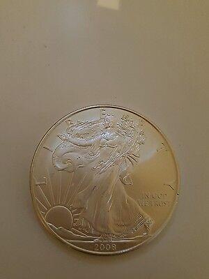 2008 AMERICAN SILVER 1 oz LIBERTY EAGLE $1 ONE DOLLAR COIN