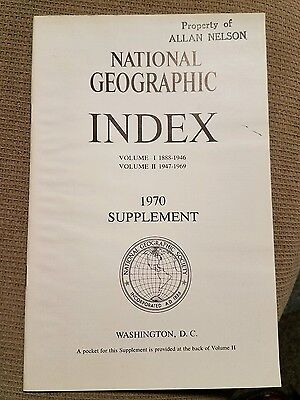 National Geographic Index Supplement 1970