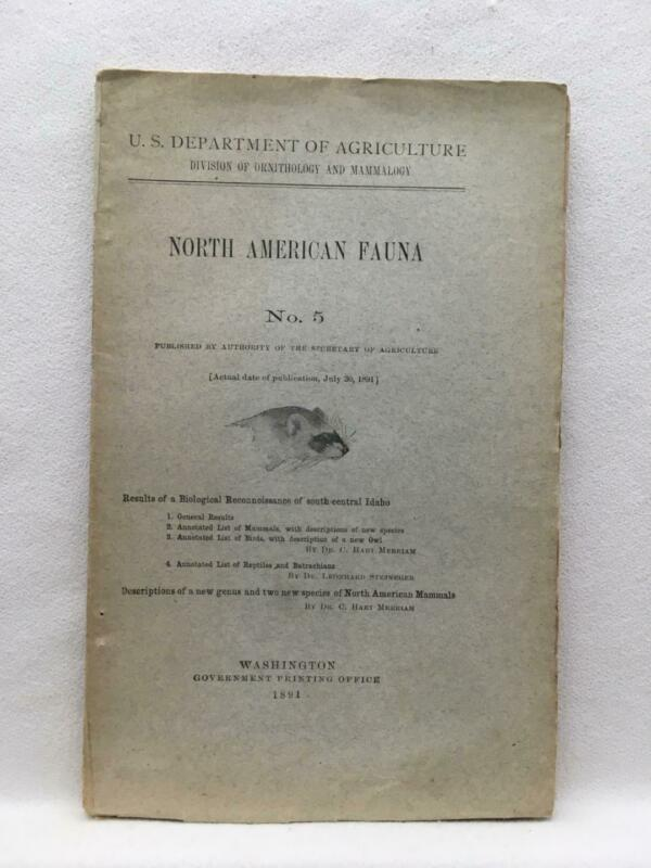 North America Fauna No 5 USDA Division of Ornithology & Mammalogy July 30 1891