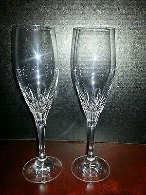 Pair Gorham DIAMOND Champagne Flutes