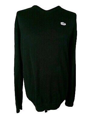 "Vans Off The Wall Black Shoe Logo Cotton Sweatshirt Jumper Size XL Chest 40"""