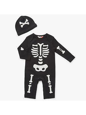 John Lewis Baby Halloween Skeleton Romper & Hat / Black 3-6 Months Brand - John Lewis Baby Kostüm