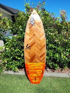 Hand crafted Timber Laminated surf board