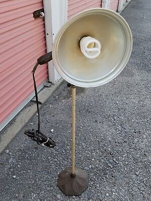 Vintage BURDICK ZOALITE Lamp Cast Iron Base Industrial Steampunk