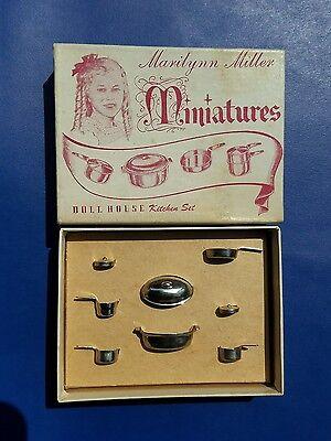 Vintage Aluminum Kitchen Set Dollhouse Marilynn Miller Miniatures 1/12 scale