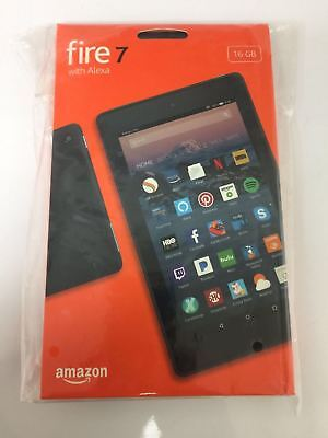 Brand New Amazon Fire 7 Tablet E Reader With Alexa  7  Display  16 Gb   Black